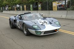 Ford gt 40 racerbil Arkivfoton