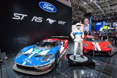 Ford GT 40 samochody wyścigowi Zdjęcie Stock
