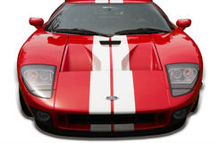 Ford GT Sports Car Isolated. Isolated image of a red Ford GT at the Plunkett Country Cruize-In in 2011, located in London, Ontario Canada Royalty Free Stock Photography