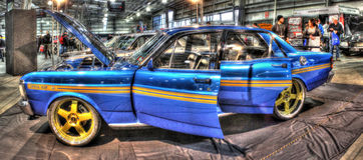 Ford 351 GT su esposizione alla manifestazione di automobile Fotografia Stock Libera da Diritti