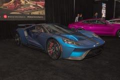 Ford GT Supercar op vertoning tijdens La Auto toont Stock Afbeelding