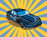 Ford GT touring car. Vector art of a Ford GT touring car royalty free illustration