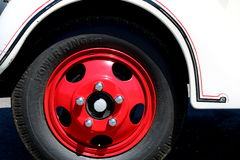 Ford Howard Cooper Fire Engine Rim 1940 e pneu Imagem de Stock