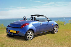 Ford ka convertible by coast Stock Images