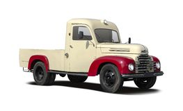 Ford Koln truck. Old Ford Koln truck isolated on white Royalty Free Stock Images