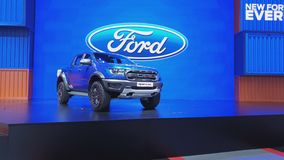 Ford leśniczego ptaka drapieżnego pickup na pokazie przy 40th Bangkok Tajlandia Międzynarodowym Motorowym przedstawieniem 2019 zdjęcie wideo
