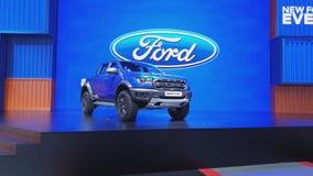 Ford leśniczego ptaka drapieżnego pickup na pokazie przy 40th Bangkok Tajlandia Międzynarodowym Motorowym przedstawieniem 2019 zbiory
