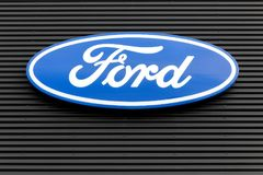 Ford logo na ścianie Fotografia Stock