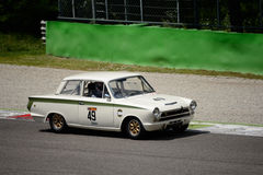 1963 Ford Lotus Cortina at Monza Circuit Stock Images