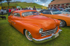 1950 ford mercury coupe. The image is shot at Fredriksten fortress in Halden, Norway during the annual classic car event stock images