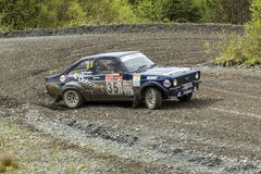 Ford Mkii Escort Rally Car stockfotos