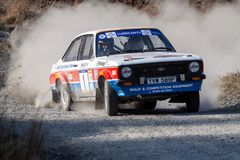 Ford Mkii Escort Rally Car lizenzfreie stockfotos