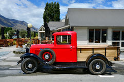 1930 Ford Model A Pickup. GLENORCHY, NZ - JAN 13:An 1930 Ford Model A Pickup in Glenorchy on Jan 13 2014.In NZ there are more then 13,000 vintage classic cars in Royalty Free Stock Photos