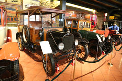 1908 Ford Model T. ISTANBUL, TURKEY - JULY 29, 2016: 1908 Ford Model T in Rahmi M. Koc Industrial Museum. Koc museum has one of the biggest classic car Royalty Free Stock Photo