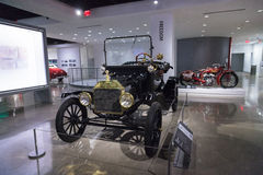 1915 Ford Model T Runabout. Los Angeles, CA, USA — April 16, 2016: 1915 Ford Model T Runabout was a gift to the Petersen Automotive Museum in Los Angeles Royalty Free Stock Photography
