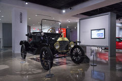 1915 Ford Model T Runabout. Los Angeles, CA, USA — April 16, 2016: 1915 Ford Model T Runabout was a gift to the Petersen Automotive Museum in Los Angeles Royalty Free Stock Photos