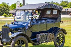 Ford Model 1923 T som turnerar bilen Royaltyfria Bilder