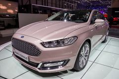 2017 Ford Mondeo Vignale car Royalty Free Stock Photography