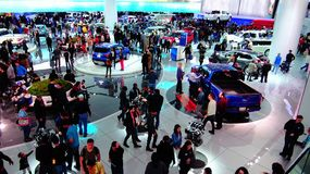 Ford Motor Co exhibit Photographie stock libre de droits