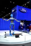 Ford Motor Company Robot at Auto Show. Robot talking to people at Chicago Auto Show Stock Photo