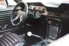 Ford Mustang内部 免版税库存图片