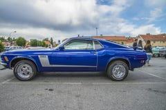 1970年Ford Mustang小轿车 免版税库存照片