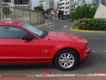 Ford Mustang第45周年版侧视图  库存图片