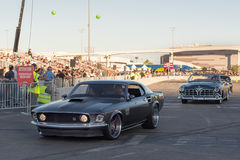 1969年Ford Mustang,专业设备市场协会SEMA 免版税库存照片