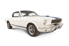 Ford Mustang 1965. '65 Ford Mustang Isolated on white. All logos removed stock photo