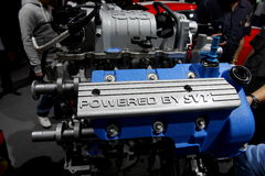Ford Mustang 2013年引擎 免版税库存照片