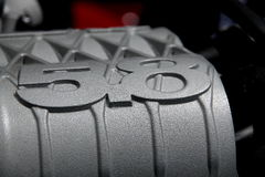 Ford Mustang 2013年引擎 库存图片