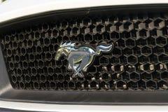 Ford Mustang-auto voor Ford-de het handel drijvenbouw van het motorbedrijf Stock Foto