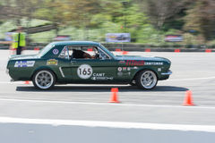 Ford Mustang in autocross Royalty-vrije Stock Fotografie