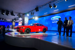 Ford-mustang in autoexpo Delhi 2016 Royalty-vrije Stock Fotografie