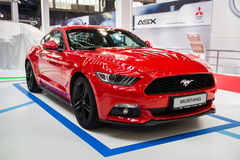 Ford Mustang. Belgrade, Serbia - March 23, 2017: New Ford Mustang presented at Belgrade 53th International Motor Show - MSA OICA stock photos