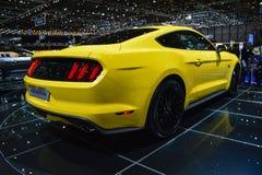 2015 Ford Mustang bij de de Motorshow van Genève Royalty-vrije Stock Afbeeldingen
