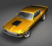 Ford Mustang Boss 3. 3D render of American Muscle Car over a gray background Stock Photography