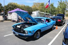 1970 Ford Mustang Boss, 302. A 1970 Ford Mustang Boss 302 at a car show stock photography