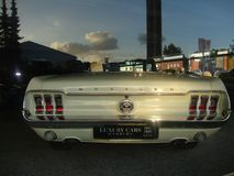 Ford Mustang cabrio ols scool 图库摄影
