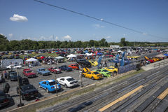 Ford mustang car show Royalty Free Stock Images