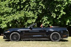 Ford Mustang 5 0 Convertible de V8 GT Foto de Stock Royalty Free