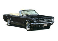 Ford-Mustang-Coupé 1964 Lizenzfreie Stockfotos