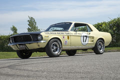 1967 ford mustang coupe race car Royalty Free Stock Image