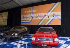 1974 Ford Mustang Display. Ford Motor Company's 1974-1983 Mustang display at the 50th Mustang Anniversary celebration held in Charlotte, North Carolina Stock Photography