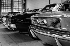 Ford Mustang and Dodge Charger Stock Images