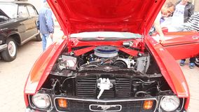 Ford mustang - engine Royalty Free Stock Photo