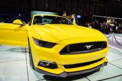 Ford Mustang, exposição automóvel Geneve 2015 Fotografia de Stock Royalty Free