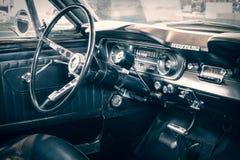 Ford Mustang Fastback客舱, 1965年 免版税库存照片