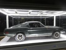 Ford Mustang Fastback Bullitt Car at Night Royalty Free Stock Photography