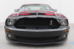 Ford Mustang fifth generation on display. Torrance, USA - May 5 2017: Ford Mustang fifth generation on display during 12th Annual Edelbrock Car Show stock photo